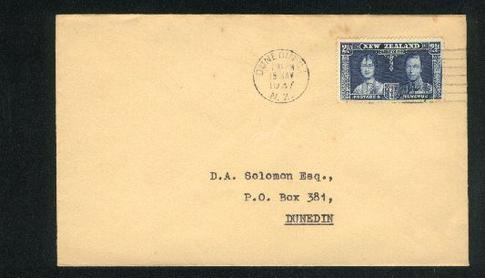 1937 Coronation KG VI cover 2 1/2d 18 May, Solcictors envelope, Use Airmail