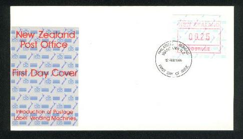 1986 Postage label vending machine 25c fdc