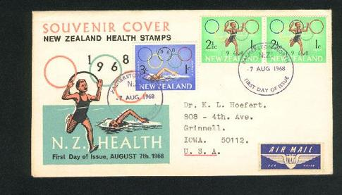 1968 Commonwealth Games fdc Running