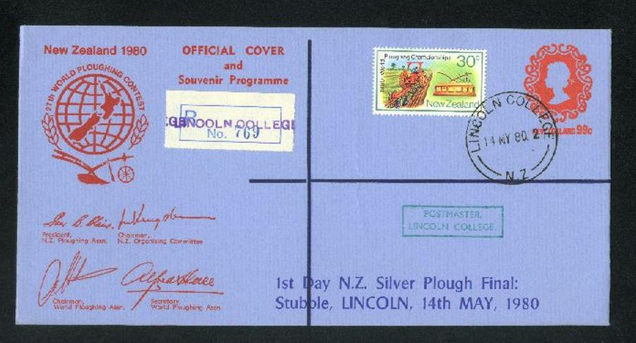 1980 Ploughing Championship reg cover, 1st day silver plough final