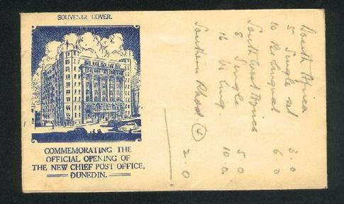 1937 Post office opening cover