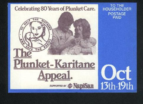 1987 Plunket health care support envelope