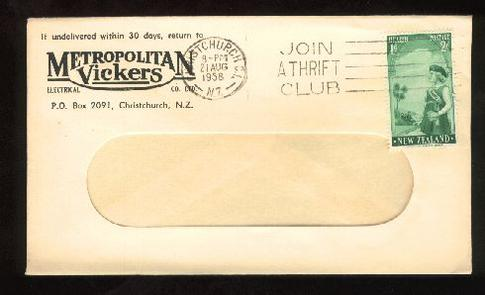 1958 Electrical Metropolitan Vickers Ltd envelope
