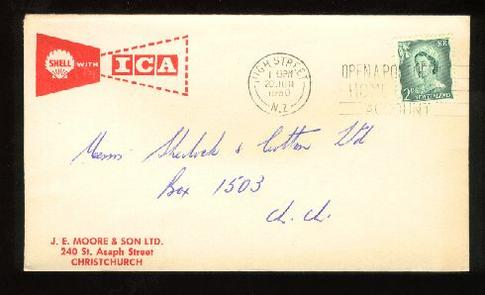 1960 Shell garage envelope Moore & Son Ltd