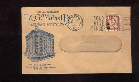 1958 Assurance society cover Mutual Life chief office Wellington
