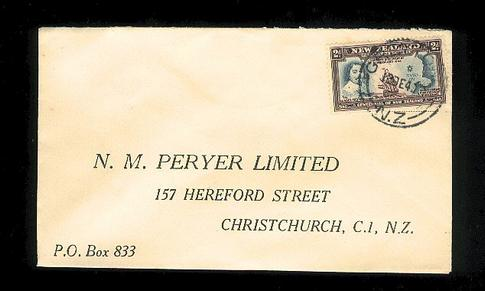 1940 H M Peryer Address cover, Captain Cook 2d stamp
