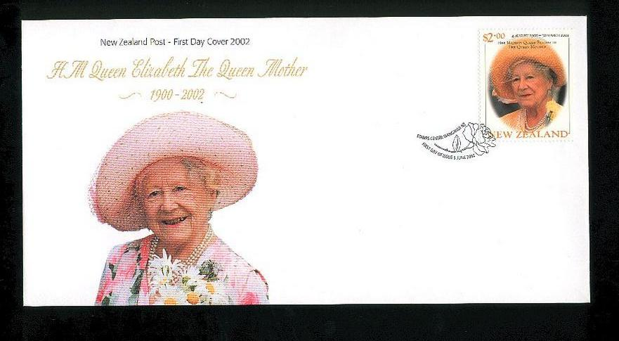 2002 Queen Mother fdc