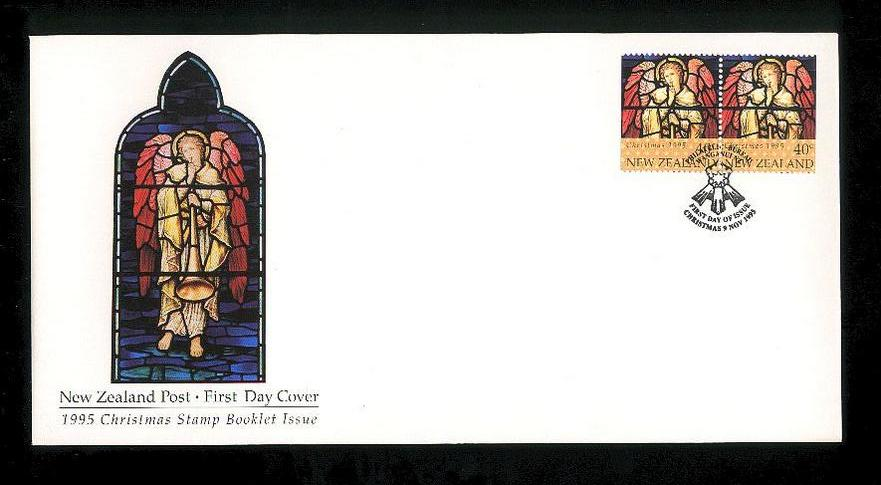 1995 Christmas fdc New Zealand Booklet issue