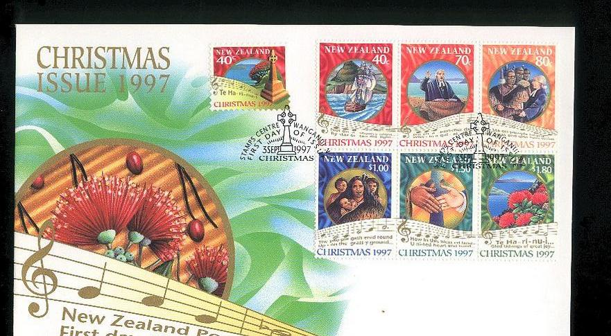 1997 Christmas fdc New Zealand