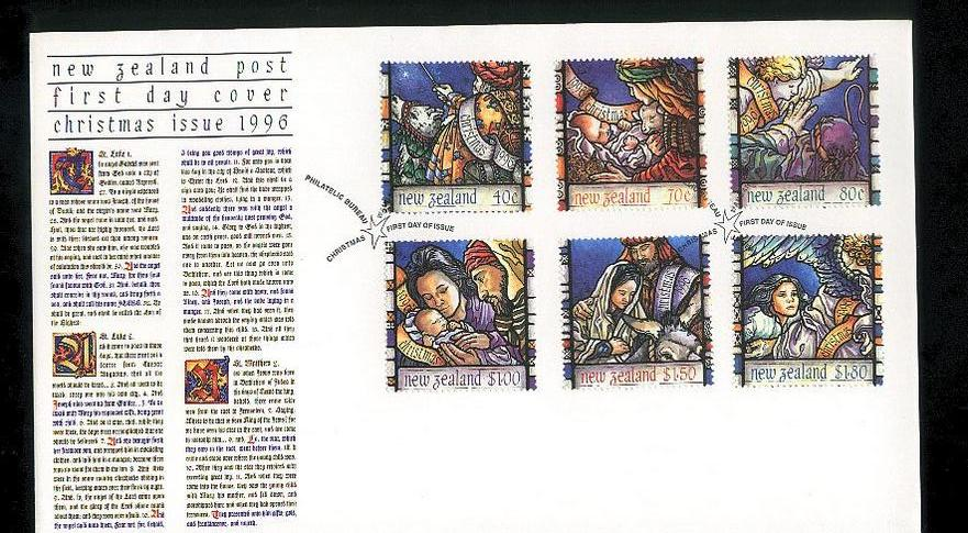 1996 Christmas fdc New Zealand