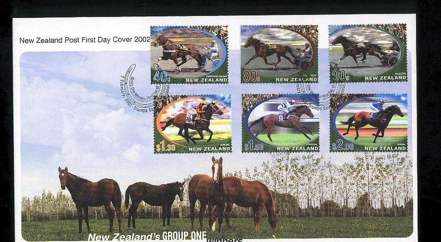 2002 Year of the horse fdc New Zealand