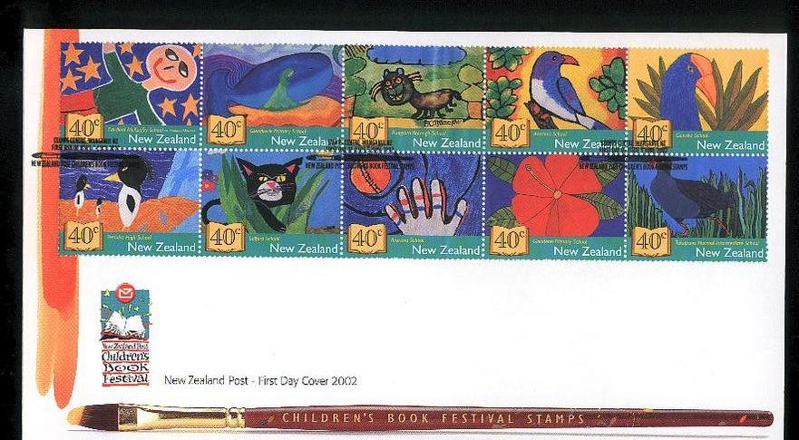 2002 Children book festival fdc New Zealand