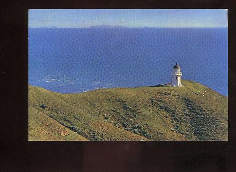 1968 Cape Reinga lighthouse card used but no stamp or cancel