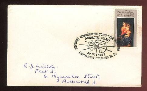 1972 Seventh Consultative committee Antarctic treaty cover