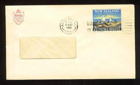 1964 Royal Insurance envelope 6 Aug not fd