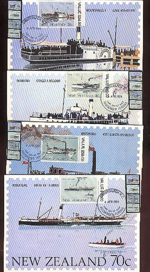 1984 Passenger Ferries ship card fdc, special with extra