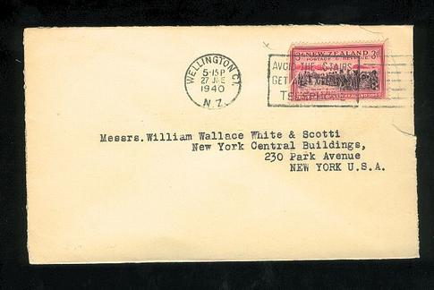 1940 Attorneys Park & Son envelope to USA