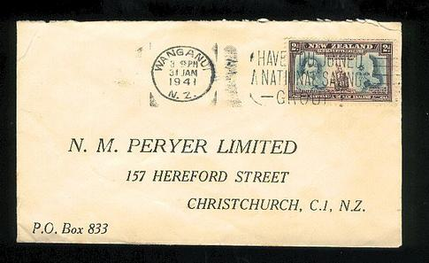 1941  Peryer Limited chemist Cook cover Wanganui