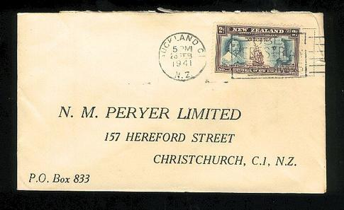 1941  Peryer Limited chemist Cook cover Auckland