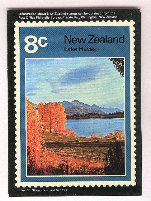 1972 Lakes scenes, Lake Hayes 8c