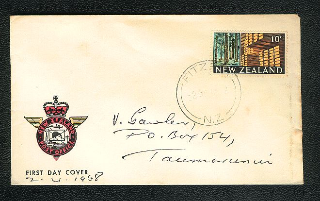 1968 Wood timber fdc Fitzroy cancel