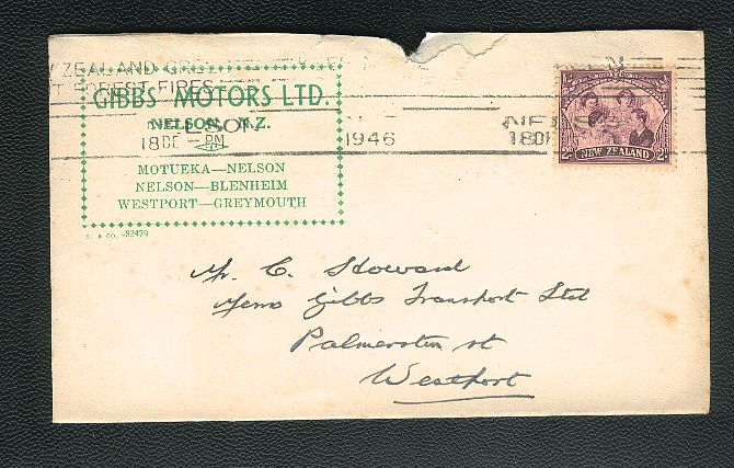 1946 Gibbs Motors envelope