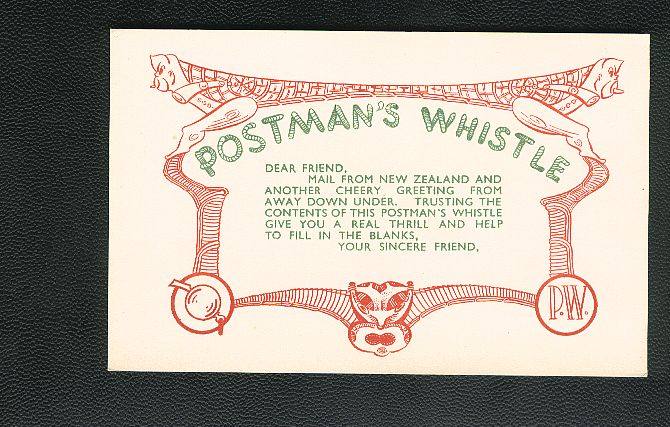 1940 s  Insert card white,  Ivan Smart address on back