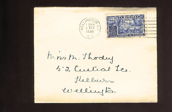 1936 Empire Conference 2 1/2d sheep fdc