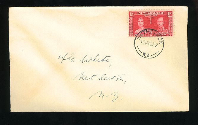 1937 KG VI coronation  fdc Netherton cancel