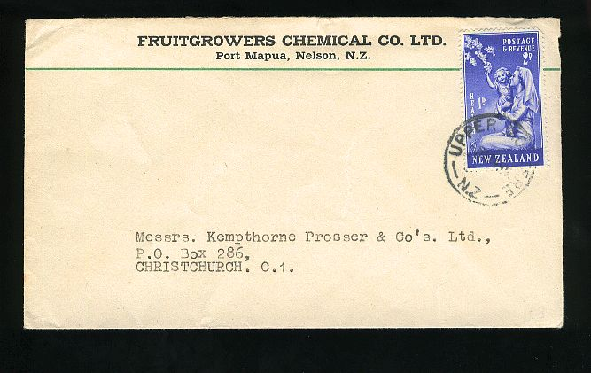 1949 Health nurse cover, Fruitgrowers chemical adv Nelson, upper Montree