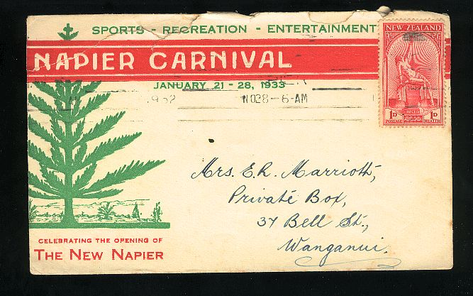 1932 NICE Napier Carnival advertising cover with 1932 health, 10 days after fd