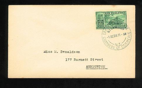 1936 Chambers of Commerce of the British Empire fdc