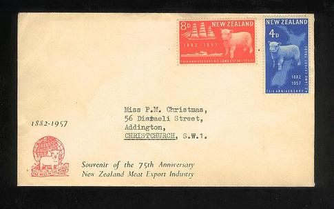 1957 Plunket Society fdc, unused cover.