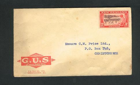 1948 Grocers United stores envelope