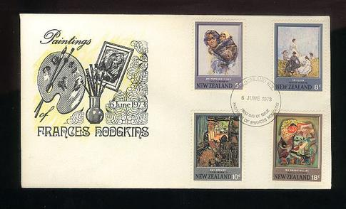 1973 Paintings by Frances Hodgkins fdc, Boric cover