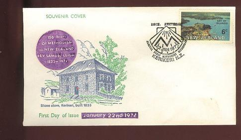 1972 150 years of  Methodism in New Zealand cover