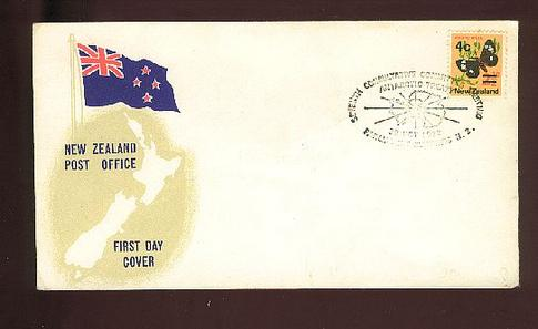 1972 Seventh Consultative committee meeting Antarctic treaty cover, flag map