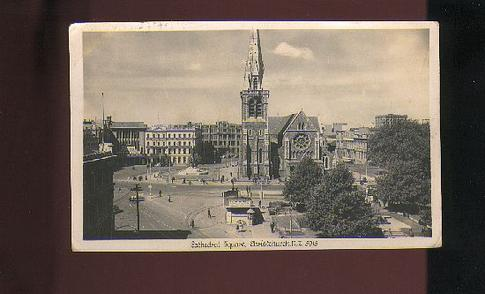 1950 ish Catheral Square Christchurch