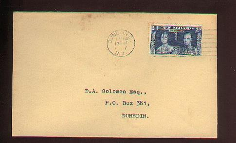1937 KG VI 2 1/2d cover 18 May USE THE AIR MAIL