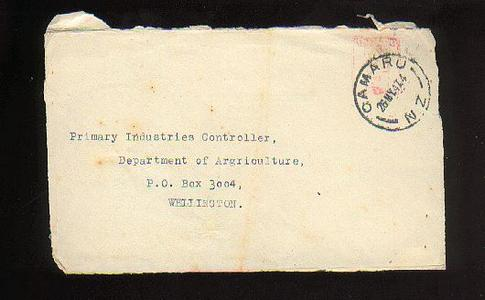 1947 Oamaru envelope, front only