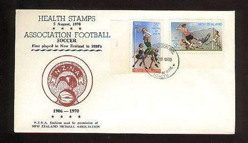 1970 Health football and netball fdc, Masterton
