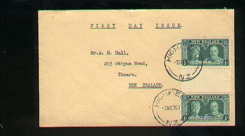 1935 KG V fdc 7 May, Highfield