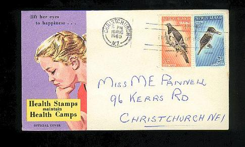 1960 Health fdc, Christchurch