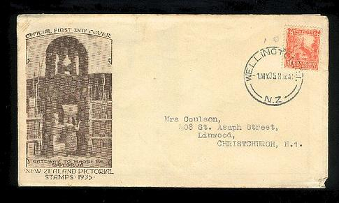 1935 Maori Pa 2d fdc with booklett New Zealand