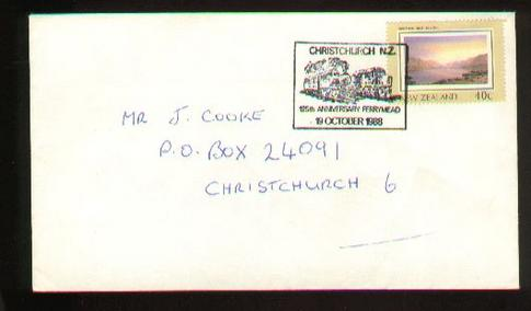 1988 125th anniversary Ferrymead train cover