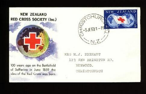 1959 Red Cross fdc, Christchurch