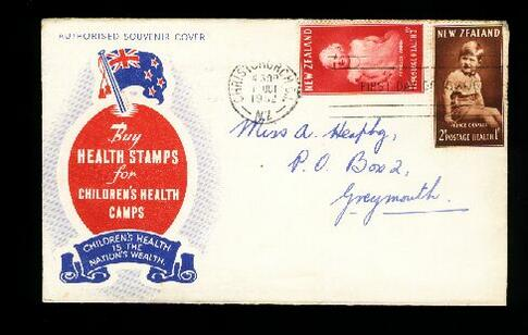 1952 Health fdc, Christchurch