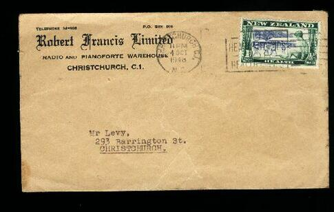 1948 Radio and Painoforte adv envelope, health stamp