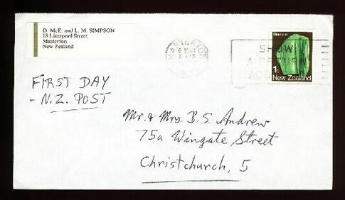 1987 First Day Of New Zealand post fdc< Masterton
