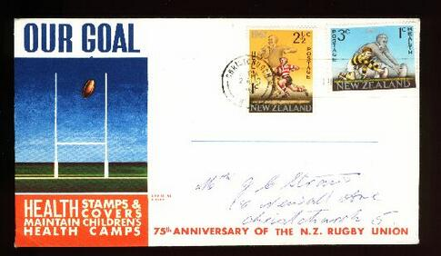 1967 Rugby health fdc, Christchurch